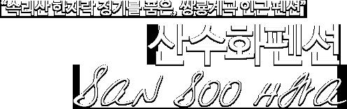 '속리산 한자락 정기를 품은, 쌍룡계곡 인근 펜션 산수화펜션'